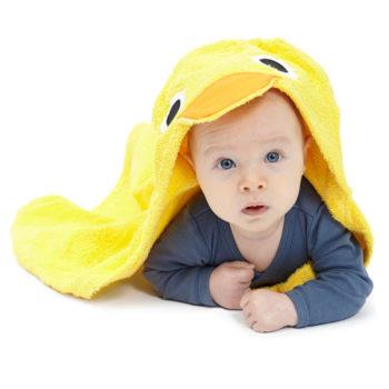 BadeTuch Ente gelb