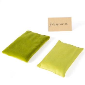 SandKissen samt und satin grün